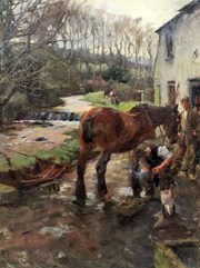 "Spring Auction Preview - Harold Harvey (1874-1941) - ""The Village Farrier"" Featured Blog Image"