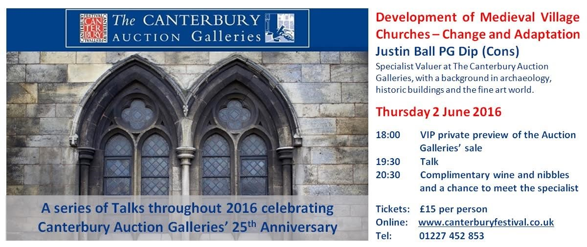 Upcoming Event: Thursday 2nd June: Development of Medieval Village Churches - Justin Ball Banner Image