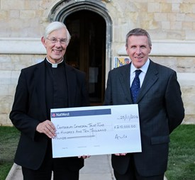 Cathedral Stone Sale Cheque Presentation Featured Gallery Image