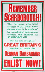 POSTER REMEMBERING GREAT WAR BOMBARDMENT OF SCARBOROUGH FOR SALE IN OCTOBER AUCTION Featured Blog Image